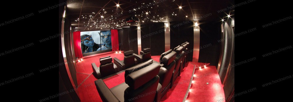 salle cinema maison leo pilot e par un centre de commande. Black Bedroom Furniture Sets. Home Design Ideas